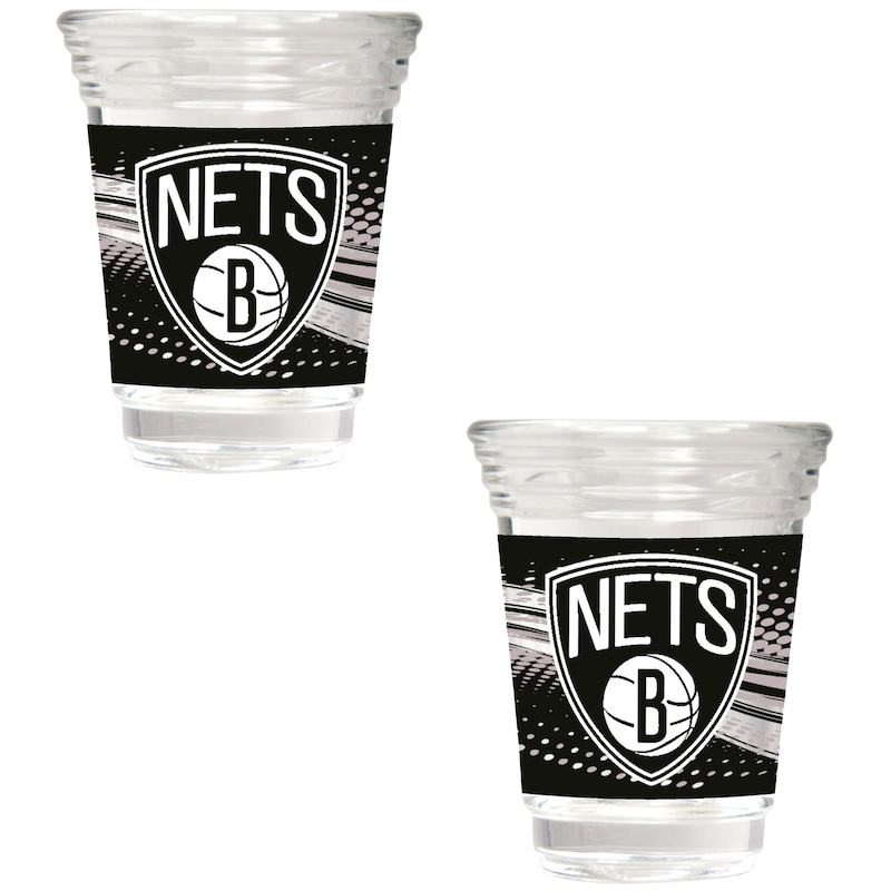 Brooklyn Nets 2-Piece 2oz. Party Shot Glass Set