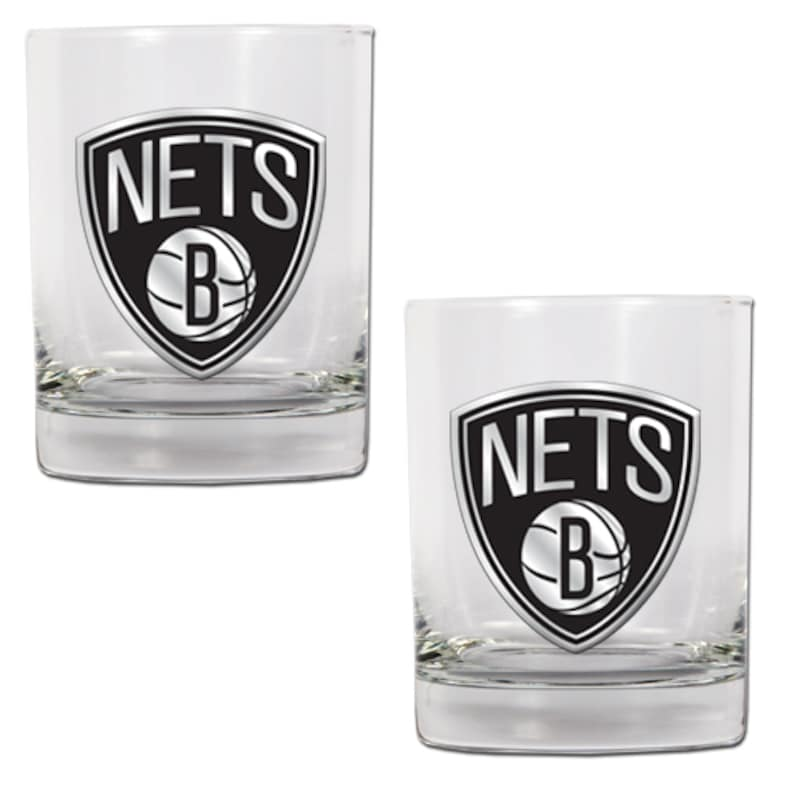 Brooklyn Nets 14oz. Rocks Glass Set