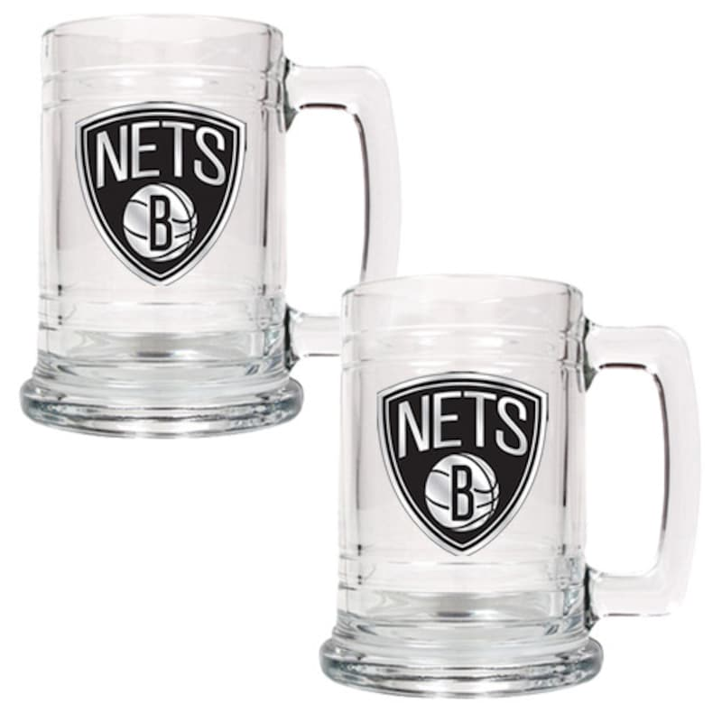Brooklyn Nets 2-Piece 15oz. Tankard Set