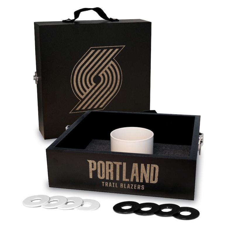Portland Trail Blazers Onyx Stained Washer Toss Game Set
