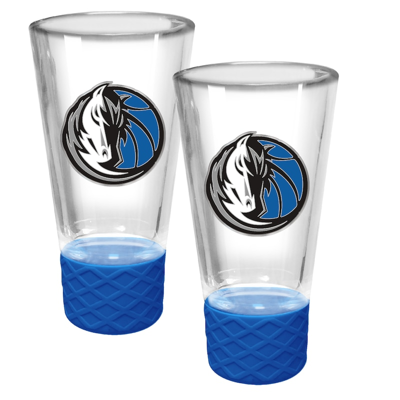 Dallas Mavericks 2-Pack Cheer Shot Set with Silicone Grip