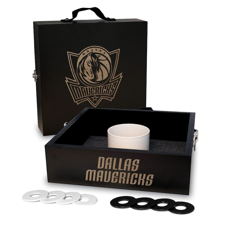 Dallas Mavericks Onyx Stained Washer Toss Game Set