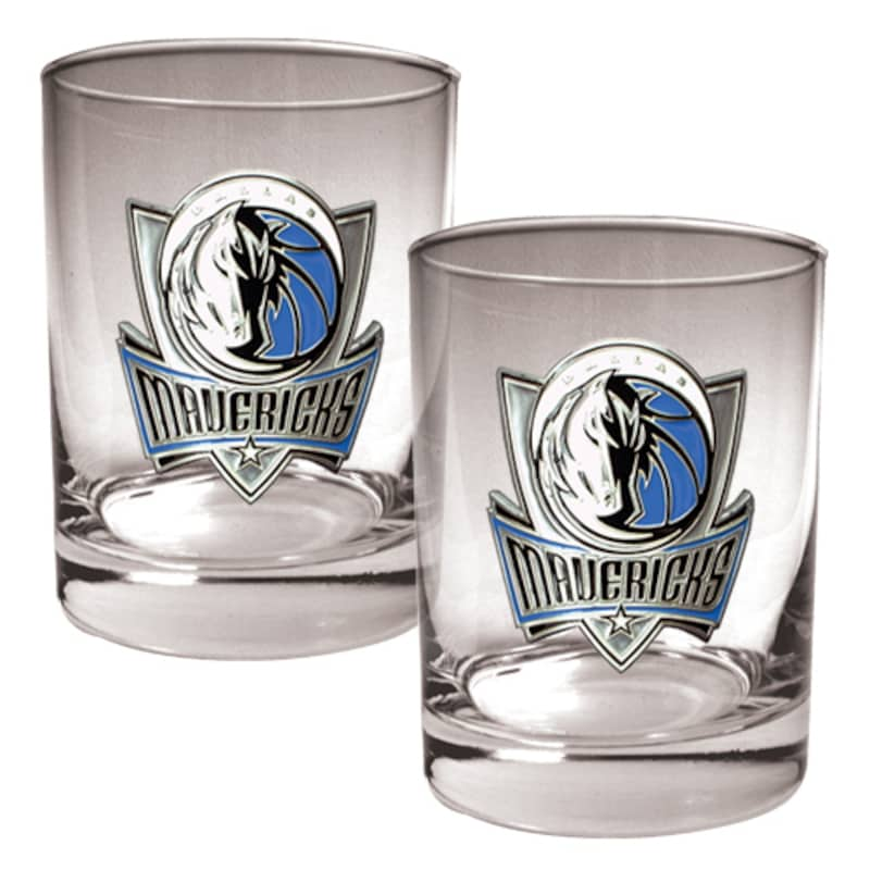 Dallas Mavericks 14oz. Rocks Glass Set
