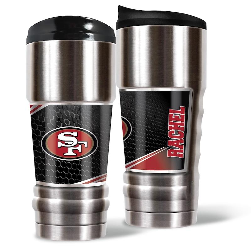 San Francisco 49ers 18oz. Personalized MVP Tumbler