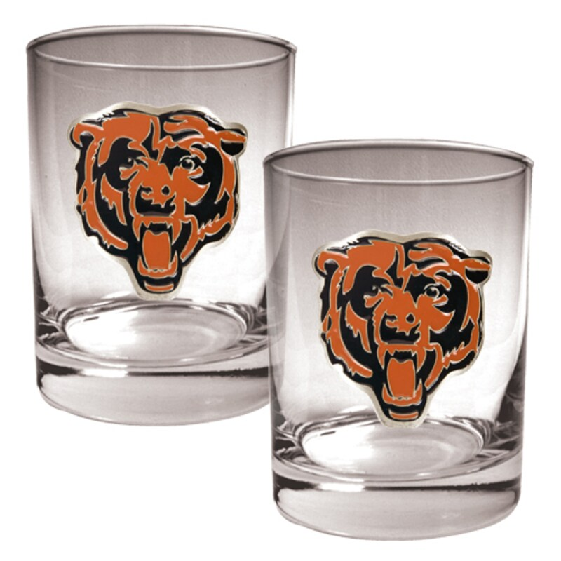 Chicago Bears 14oz. Rocks Glass Set