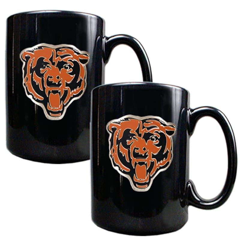 Chicago Bears 15oz. Coffee Mug Set - Black