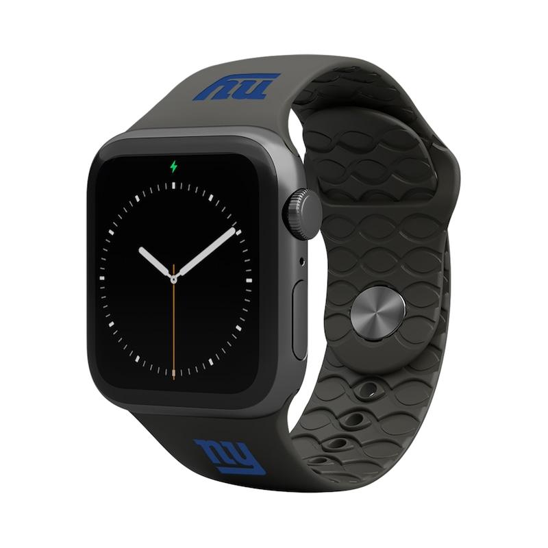 New York Giants Groove Life 42-44mm Apple Watch Band - Black