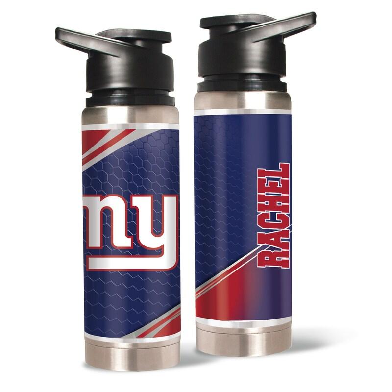 New York Giants 20oz. Personalized Water Bottle
