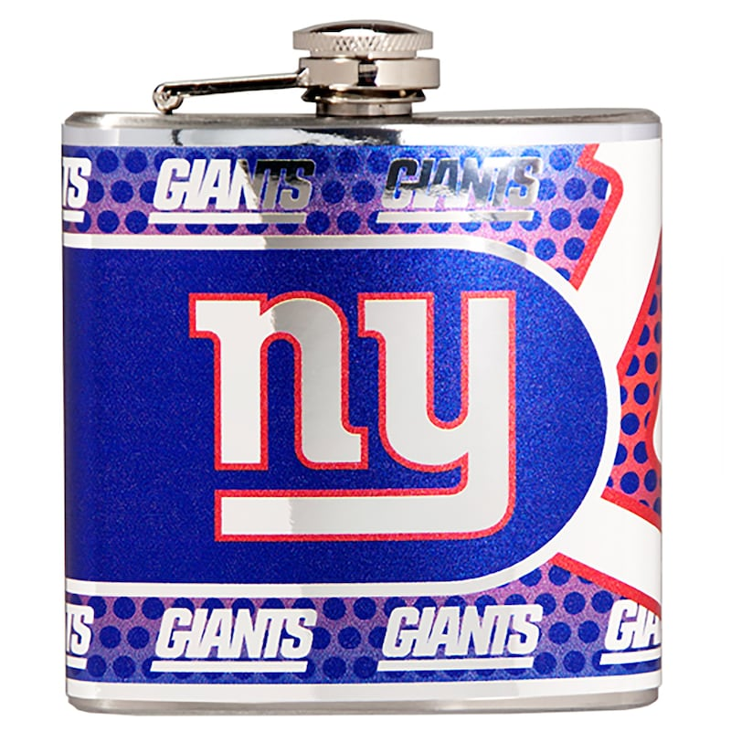 New York Giants 6oz. Stainless Steel Hip Flask - Silver