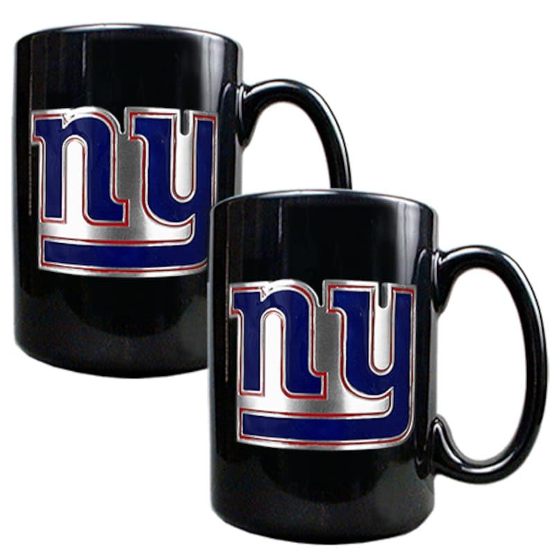 New York Giants 15oz. Coffee Mug Set - Black