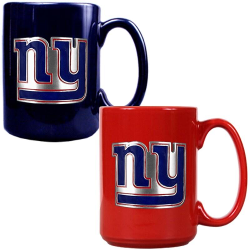 New York Giants 15oz. Coffee Mug Set - Royal/Red