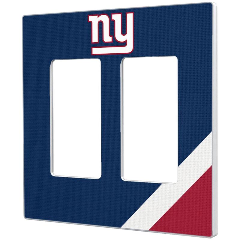 New York Giants Diagonal Stripe Double Rocker Light Switch Plate