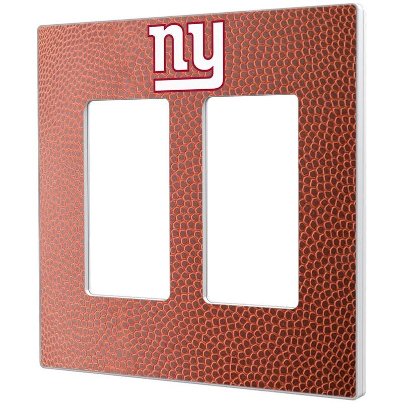 New York Giants Football Design Double Rocker Light Switch Plate