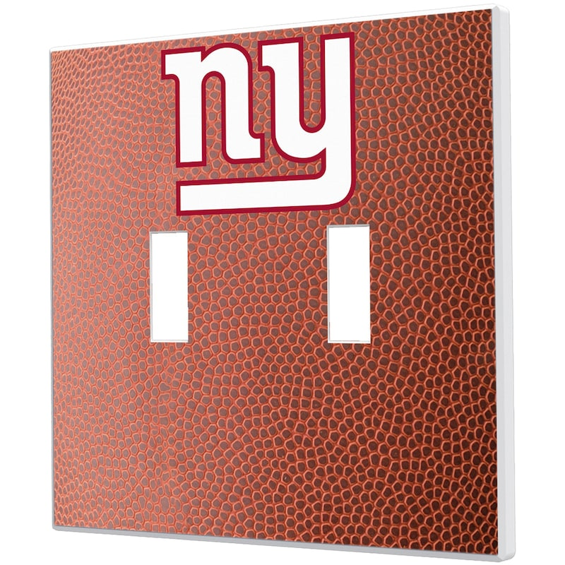 New York Giants Football Design Double Toggle Light Switch Plate