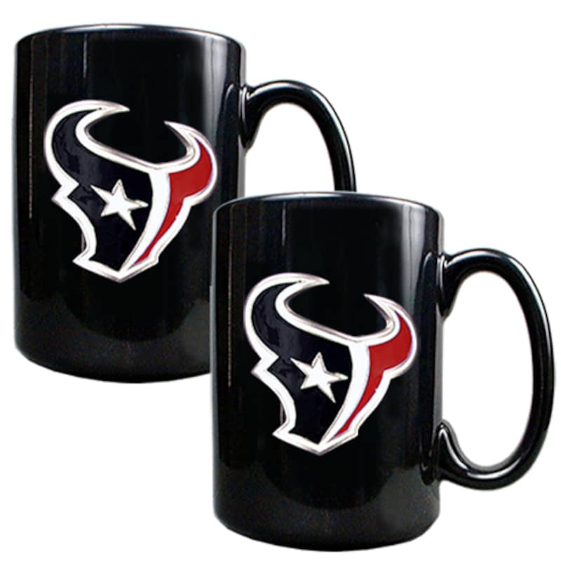 Houston Texans 15oz. Coffee Mug Set - Black