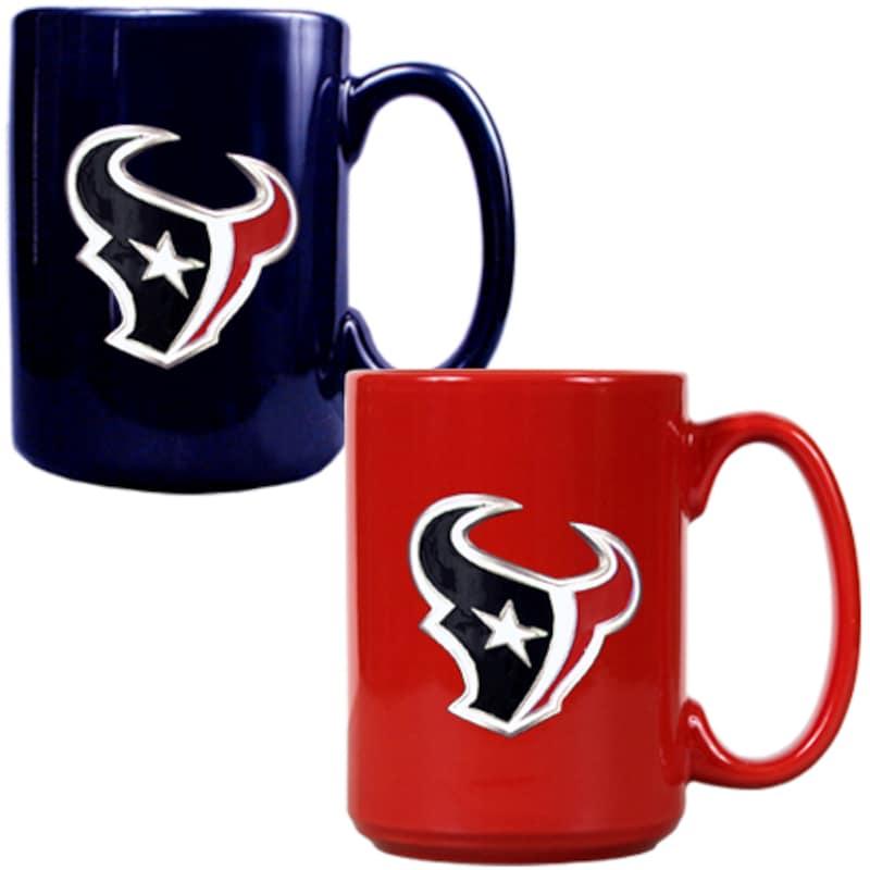 Houston Texans 15oz. Coffee Mug Set - Navy/Red