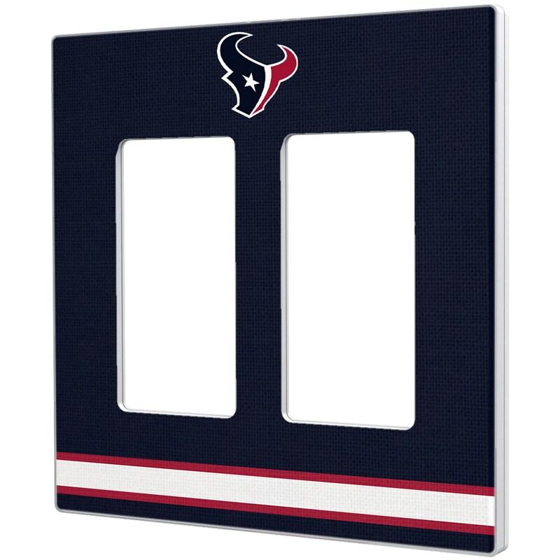 Houston Texans Stripe Double Rocker Light Switch Plate