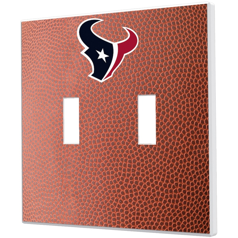 Houston Texans Football Design Double Toggle Light Switch Plate