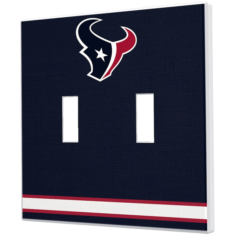 Houston Texans Stripe Double Toggle Light Switch Plate