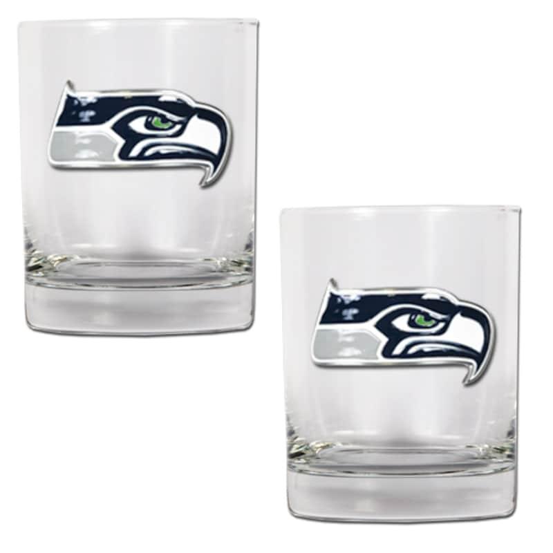 Seattle Seahawks 14oz. Rocks Glass Set