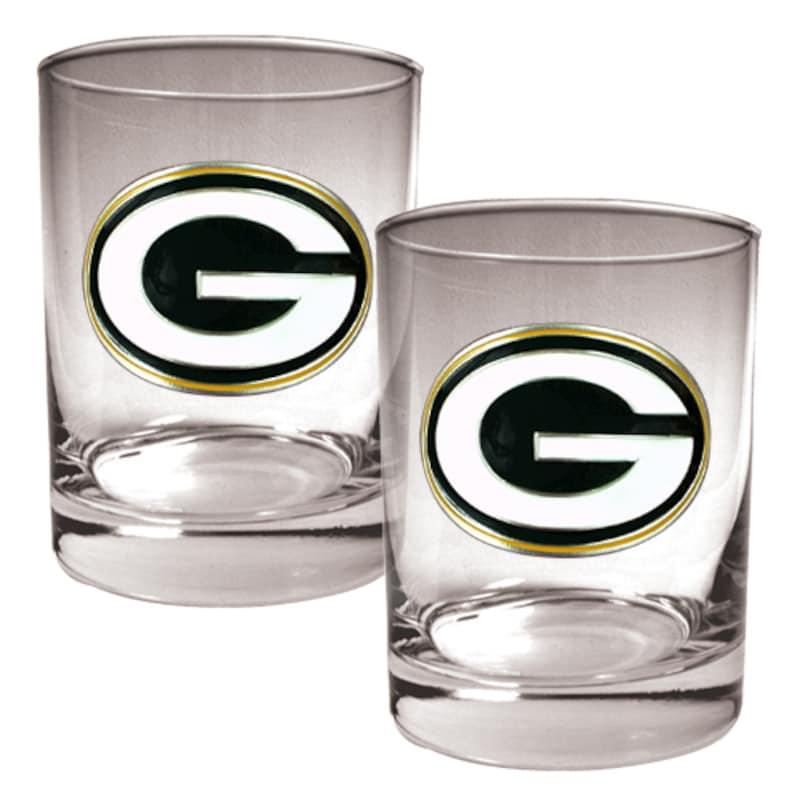 Green Bay Packers 14oz. Rocks Glass Set