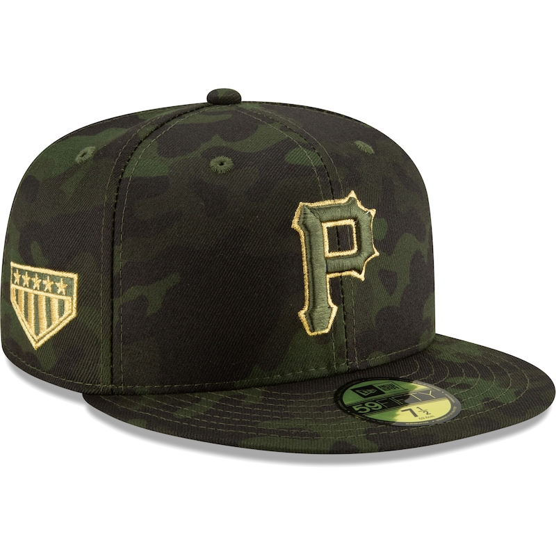 Pittsburgh Pirates New Era MLB Armed Forces Day On-Field 59FIFTY Fitted Hat - Camo