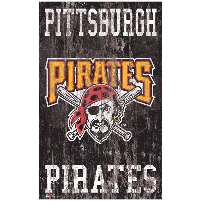 Pittsburgh Pirates 11'' x 19'' Heritage Distressed Logo Sign