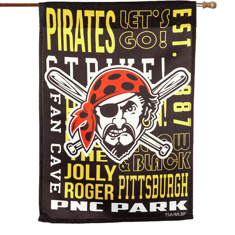 Pittsburgh Pirates 28'' x 30'' Fan Favorite Embossed House Flag