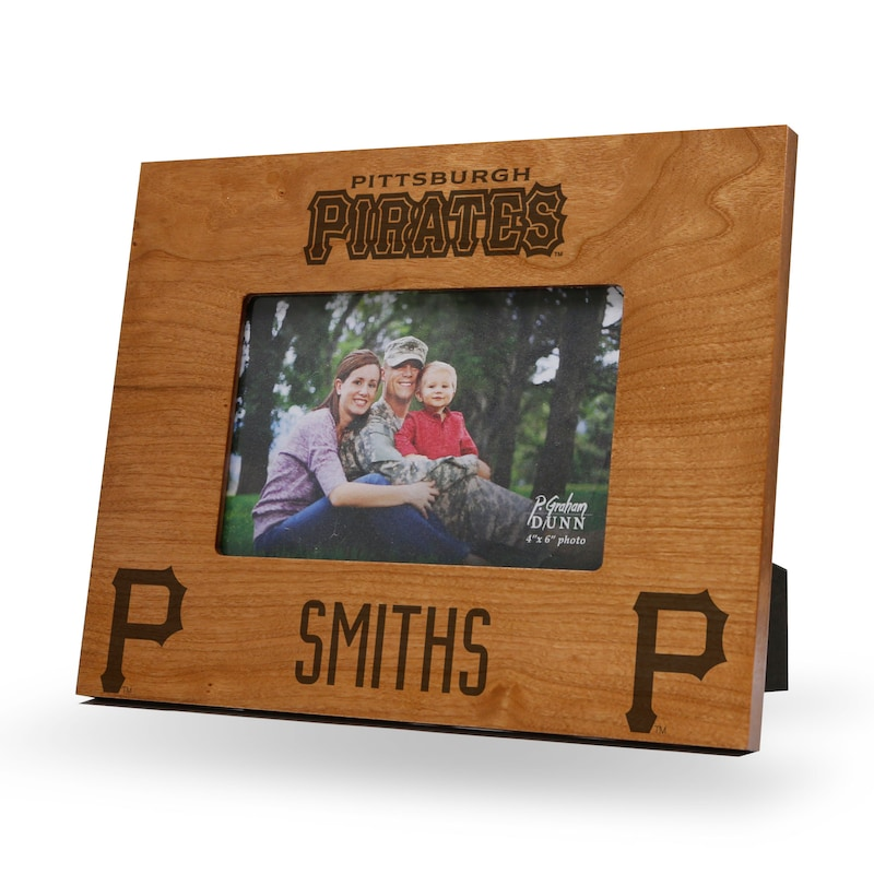 Pittsburgh Pirates Sparo 9.75'' x 7.75'' Personalized Wood Picture Frame - Brown