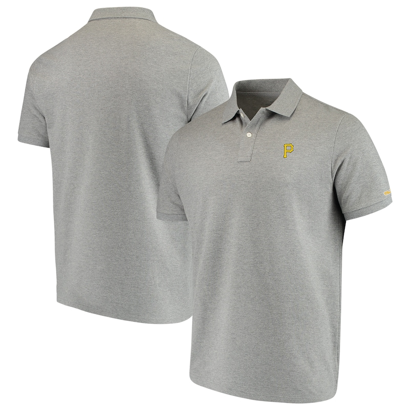 Pittsburgh Pirates Vineyard Vines Stretch Pique Polo - Heathered Gray