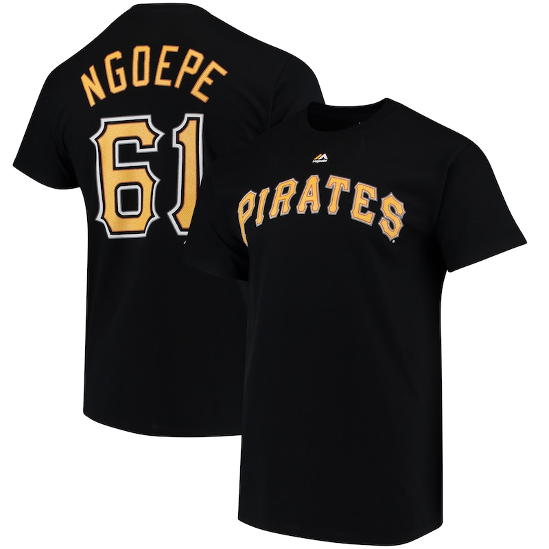 Gift Ngoepe Pittsburgh Pirates Majestic Official Name & Number T-Shirt - Black
