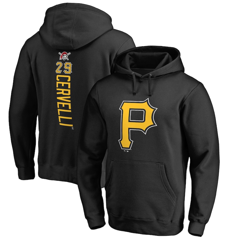 Francisco Cervelli Pittsburgh Pirates Fanatics Branded Backer Pullover Hoodie - Black