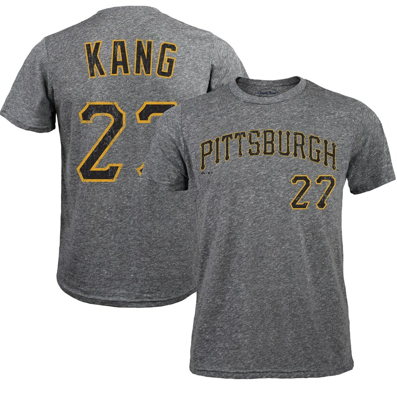 Jung Ho Kang Pittsburgh Pirates Majestic Threads Premium Tri-Blend Name & Number T-Shirt - Gray