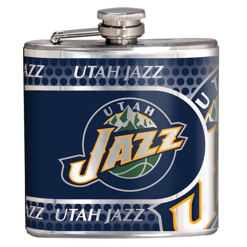 Utah Jazz 6oz. Stainless Steel Hip Flask - Silver
