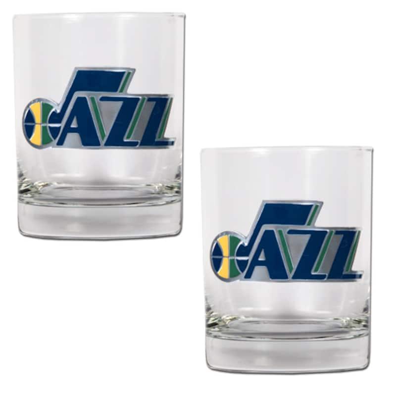 Utah Jazz 14oz. Rocks Glass Set