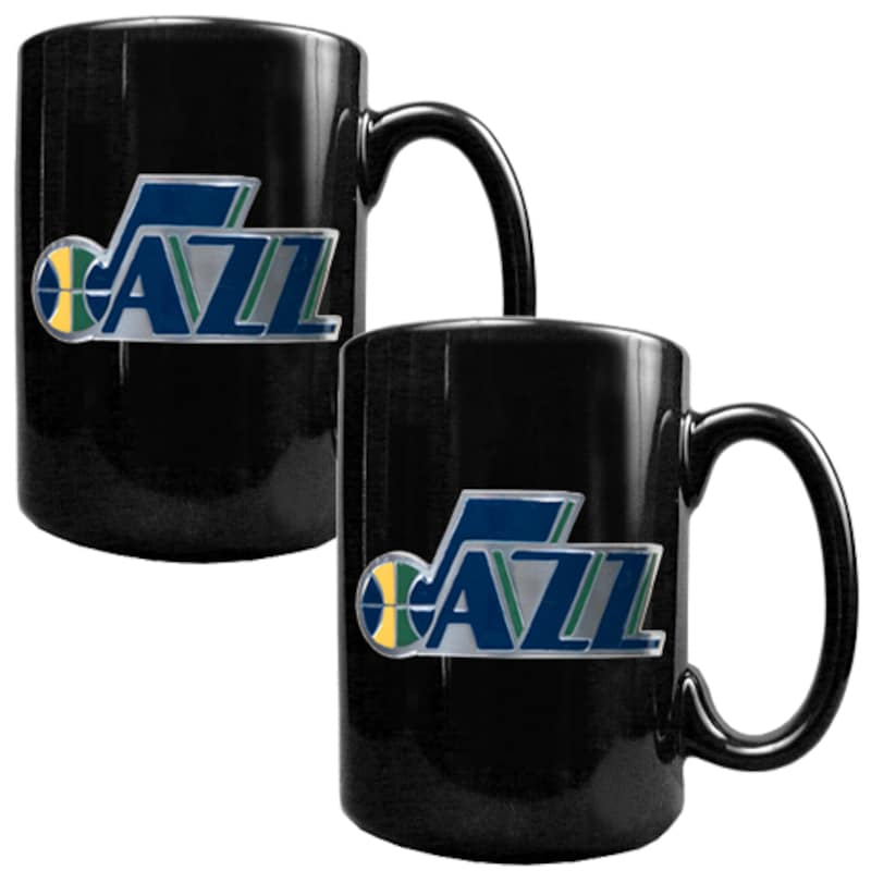 Utah Jazz 15oz. Coffee Mug Set - Black