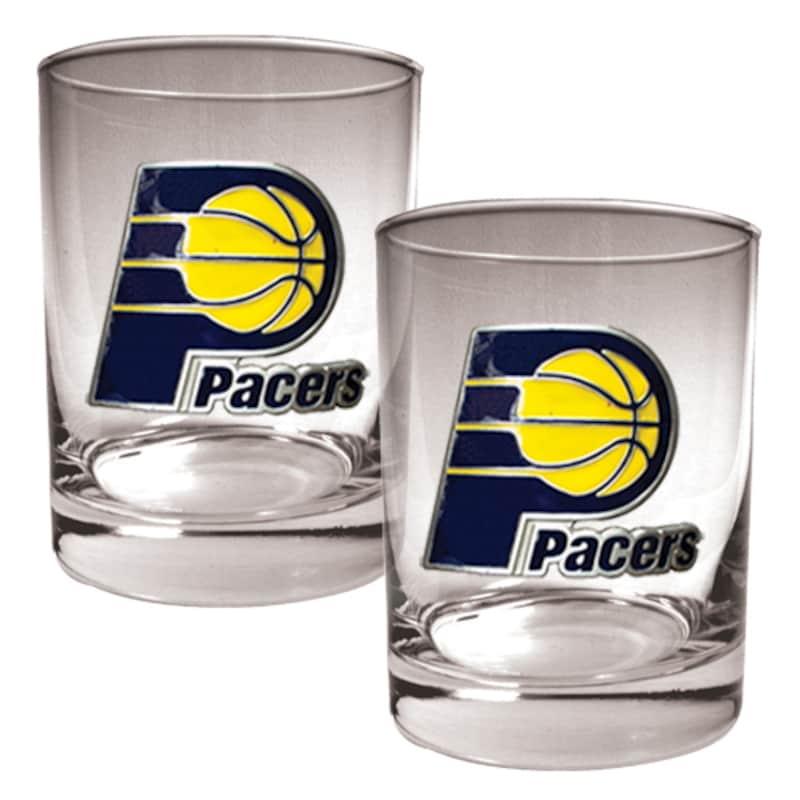 Indiana Pacers 14oz. Rocks Glass Set