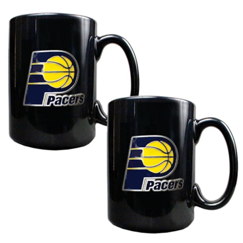 Indiana Pacers 15oz. Coffee Mug Set - Black