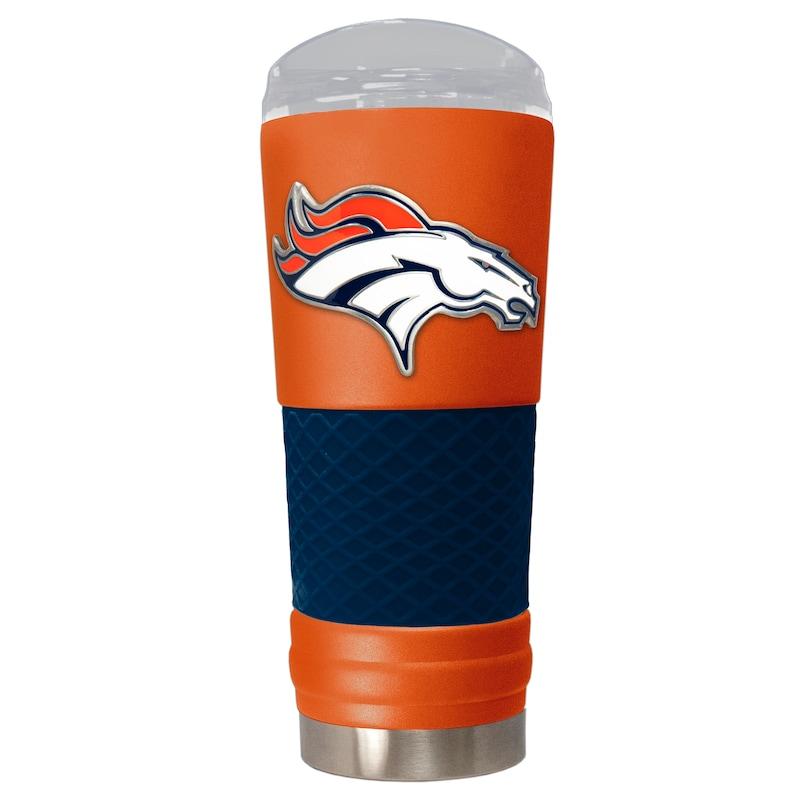 Denver Broncos 24oz. Powder Coated Draft Travel Mug - Orange