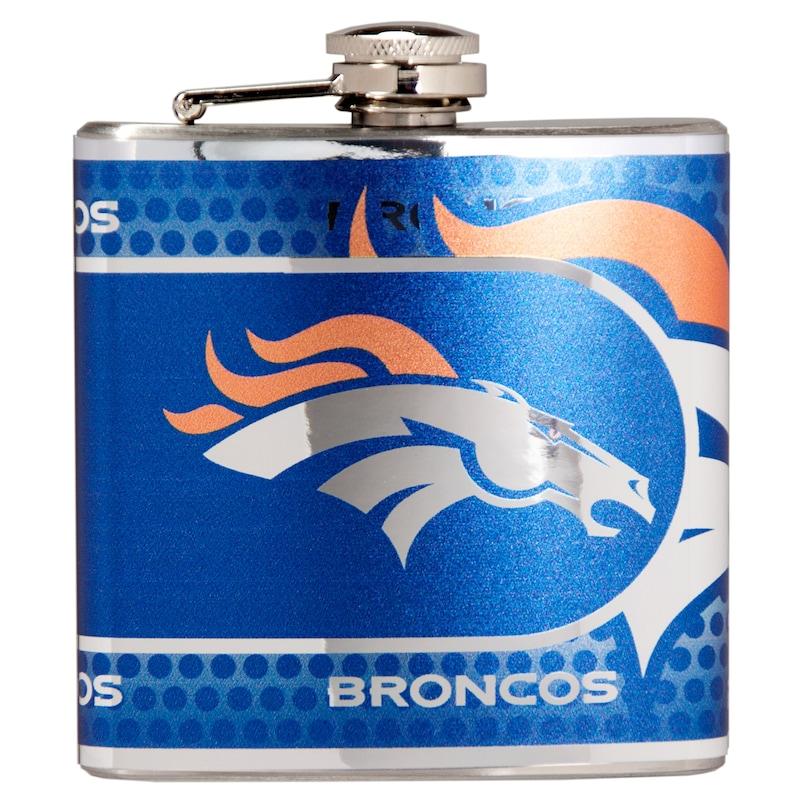 Denver Broncos 6oz. Stainless Steel Hip Flask - Silver