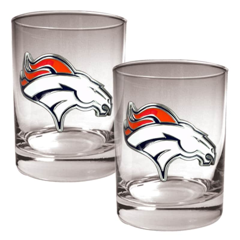 Denver Broncos 14oz. Rocks Glass Set