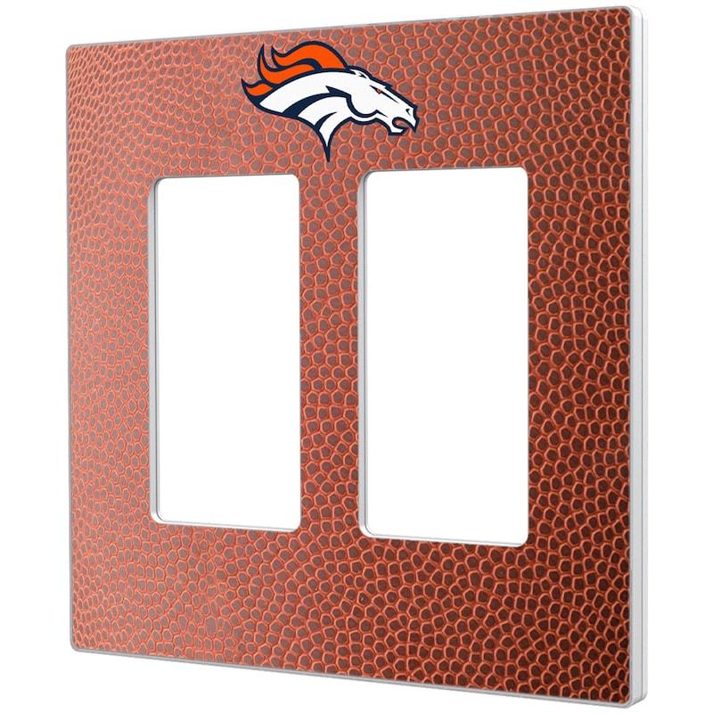 Denver Broncos Football Design Double Rocker Light Switch Plate