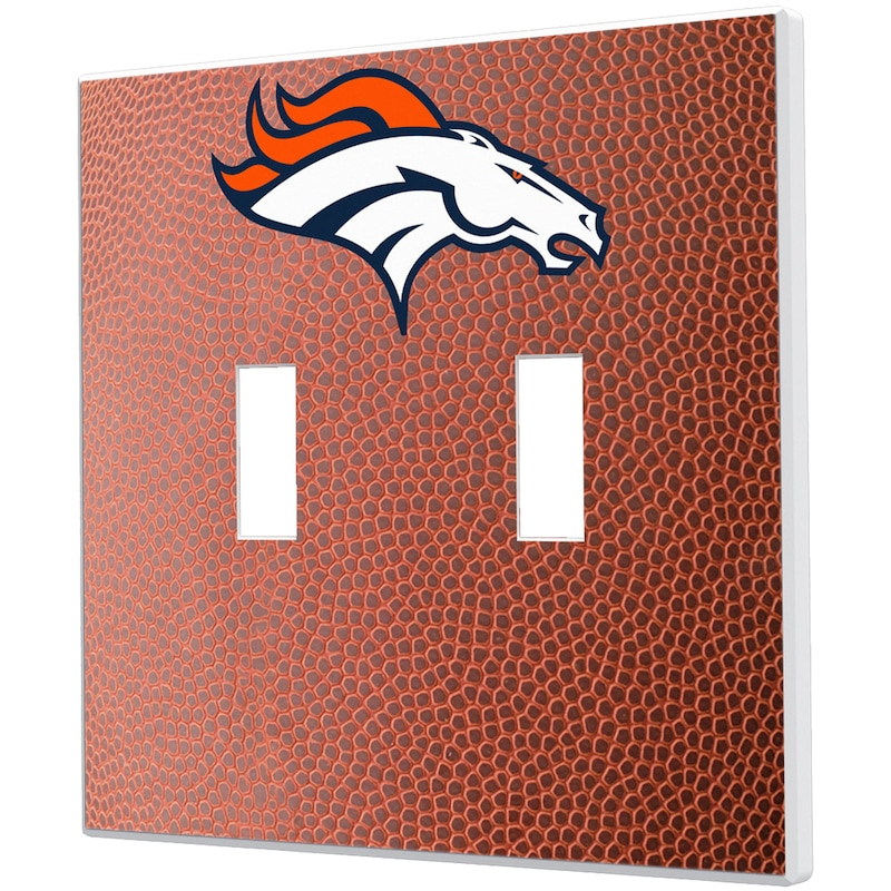 Denver Broncos Football Design Double Toggle Light Switch Plate