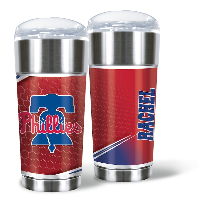 Philadelphia Phillies 24oz. Personalized Eagle Tumbler
