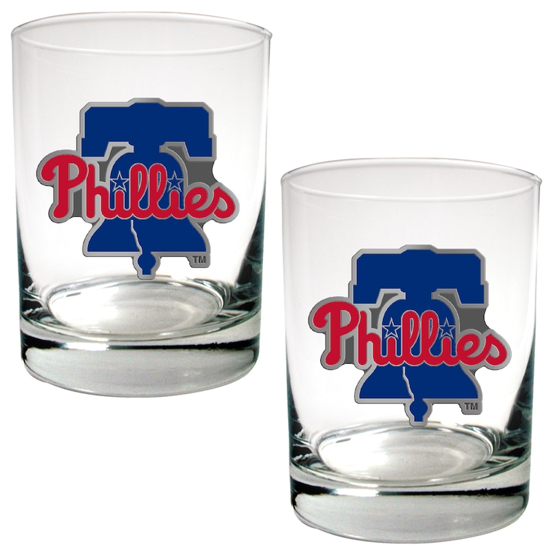 Philadelphia Phillies 14oz. Rocks Glass Set