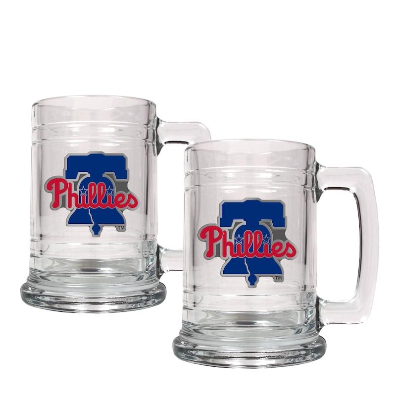 Philadelphia Phillies 2-Piece 15oz. Tankard Set