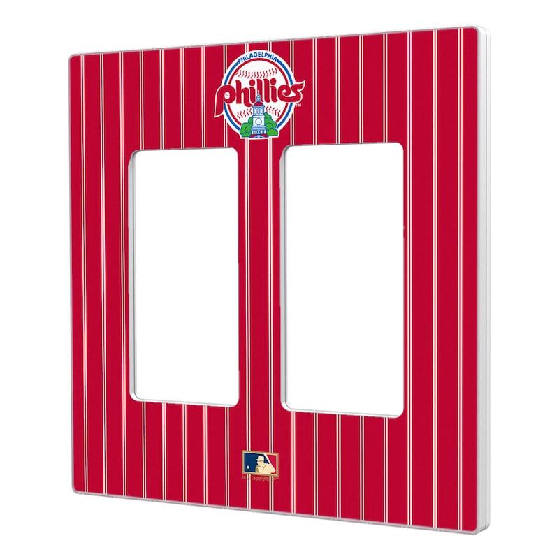 Philadelphia Phillies 1984-1991 Cooperstown Pinstripe Double Rocker Light Switch Plate