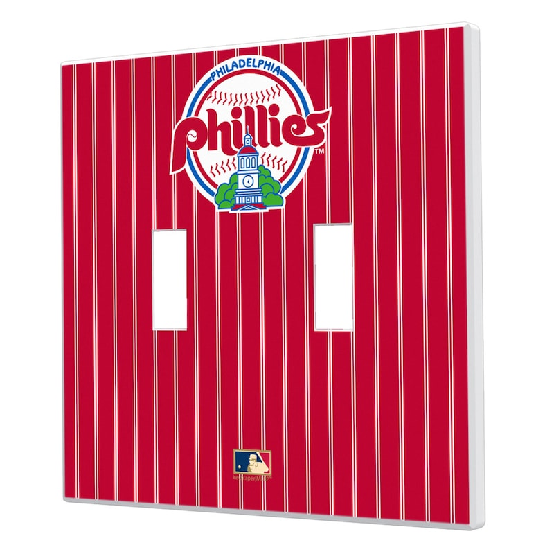 Philadelphia Phillies 1984-1991 Cooperstown Pinstripe Double Toggle Light Switch Plate
