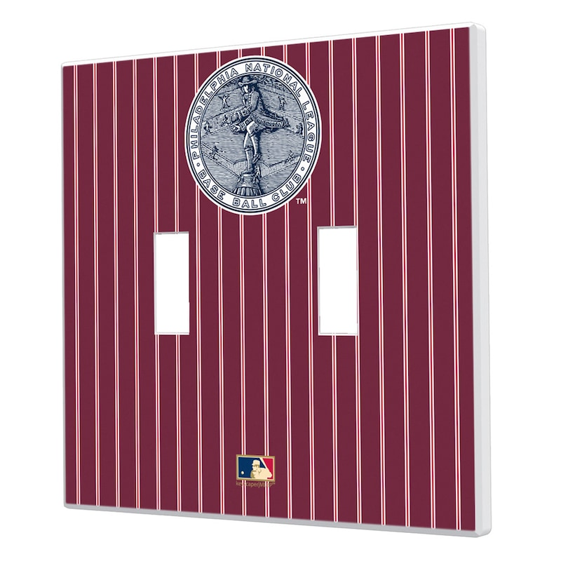 Philadelphia Phillies 1915-1943 Cooperstown Pinstripe Double Toggle Light Switch Plate