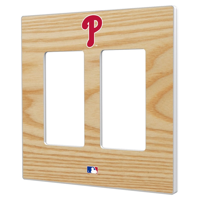 Philadelphia Phillies Baseball Bat Design Double Rocker Light Switch Plate